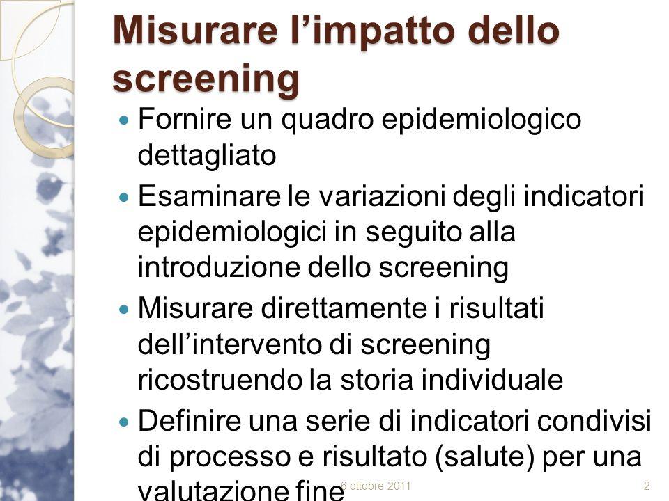 Misurare l'impatto dello screening