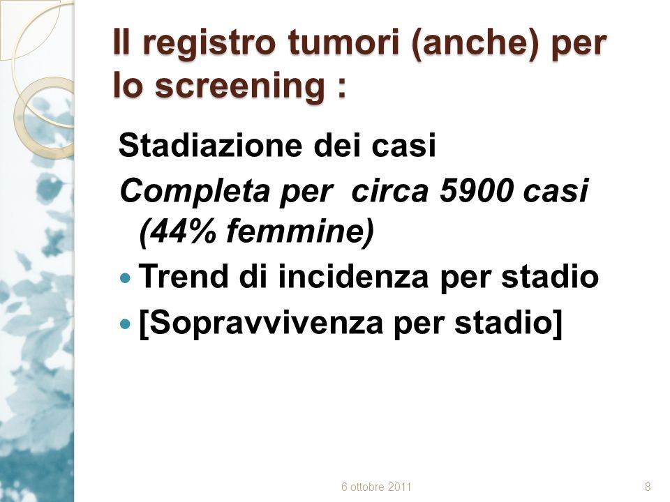 Il registro tumori (anche) per lo screening :