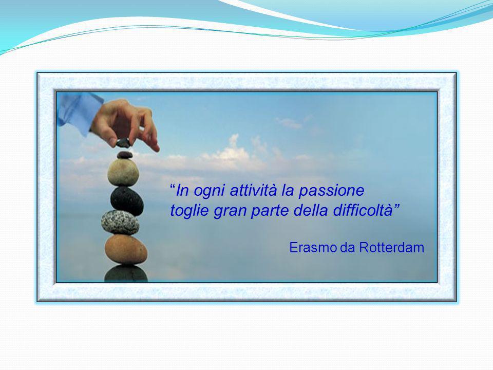 In ogni attività la passione toglie gran parte della difficoltà
