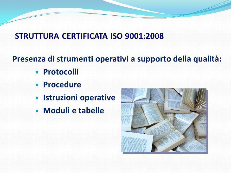 Struttura certificata ISO 9001:2008
