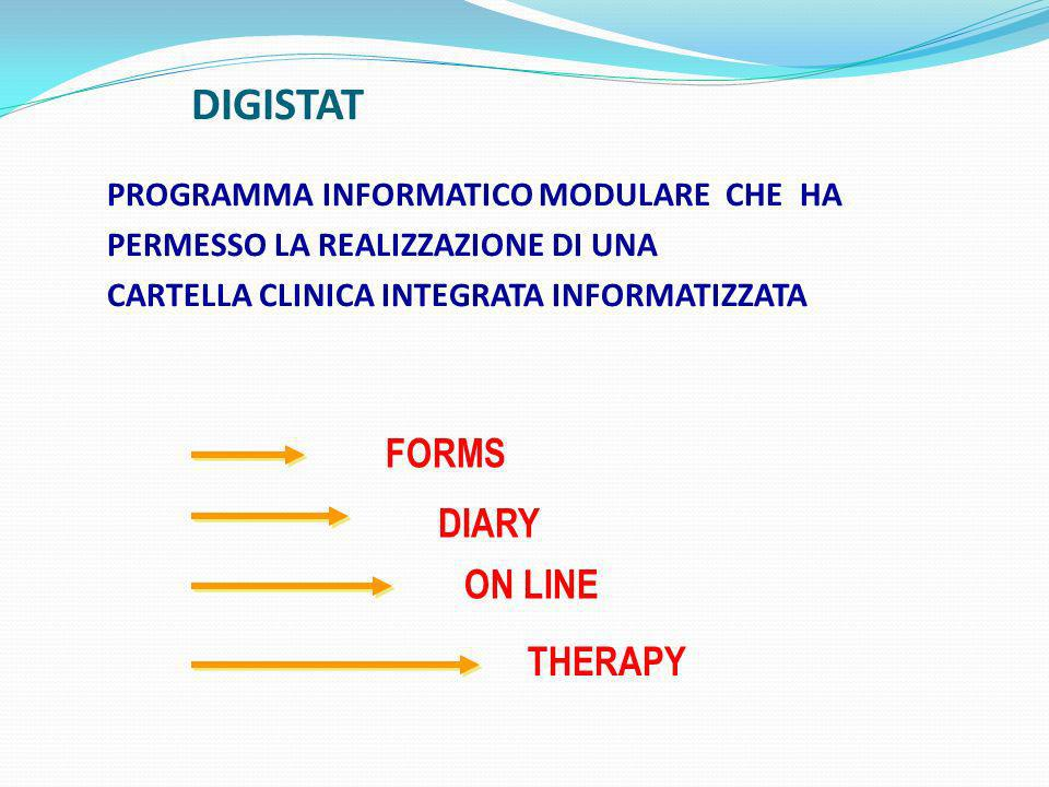 DIGISTAT FORMS DIARY ON LINE THERAPY