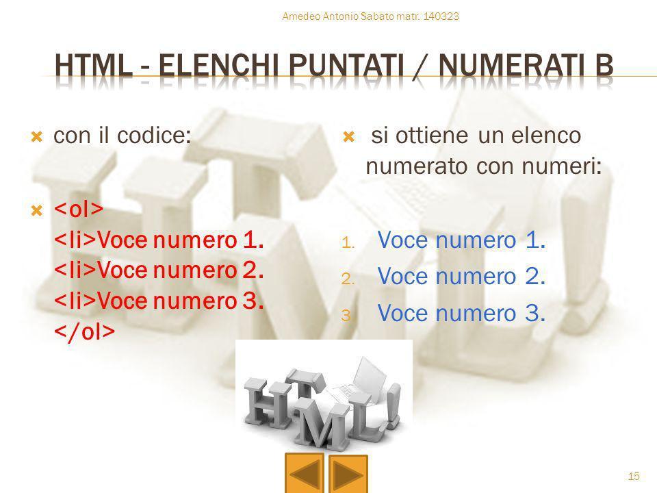 Html - elenchi puntati / numerati b