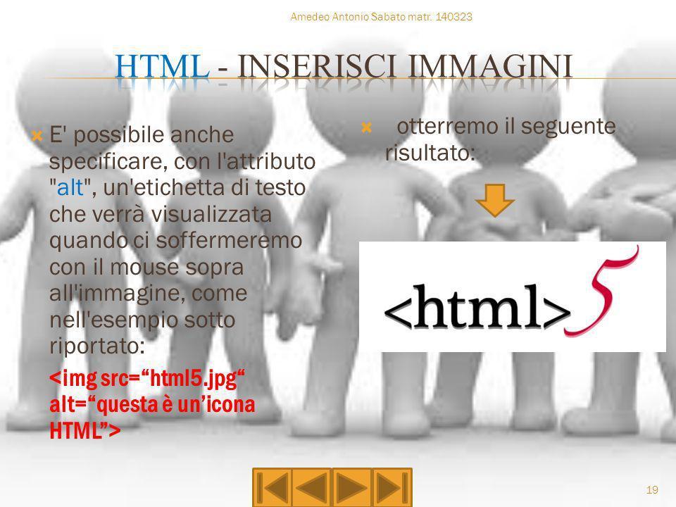 HTML - INSERISCI IMMAGINI