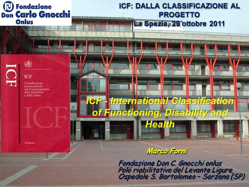 ICF: DALLA CLASSIFICAZIONE AL PROGETTO