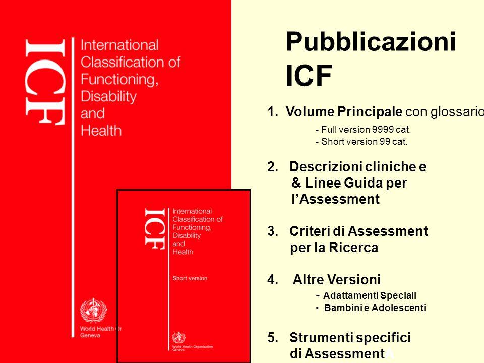 Pubblicazioni ICF 1. Volume Principale con glossario