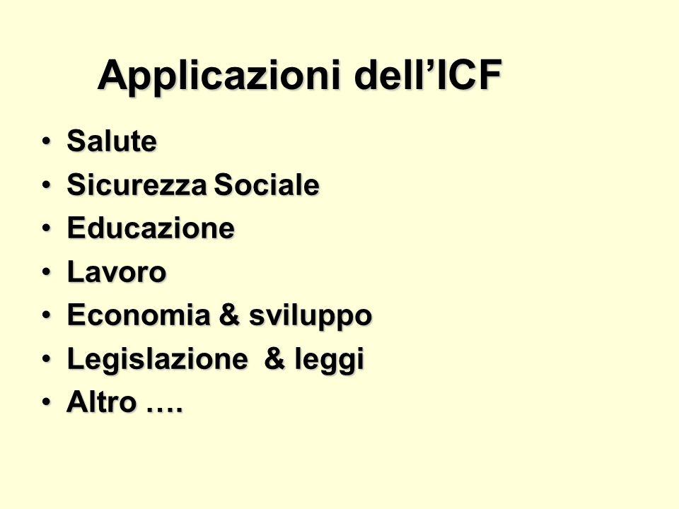 Applicazioni dell'ICF