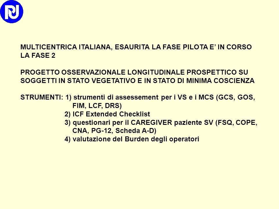 MULTICENTRICA ITALIANA, ESAURITA LA FASE PILOTA E' IN CORSO LA FASE 2