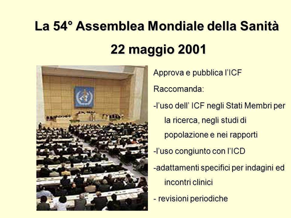 La 54° Assemblea Mondiale della Sanità 22 maggio 2001