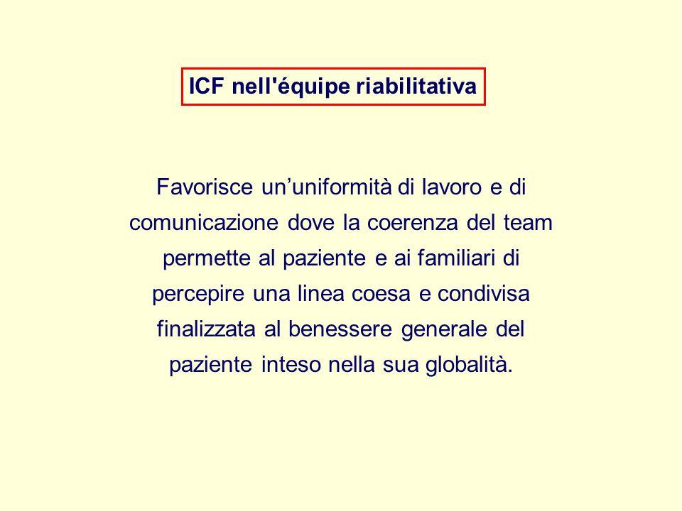 ICF nell équipe riabilitativa