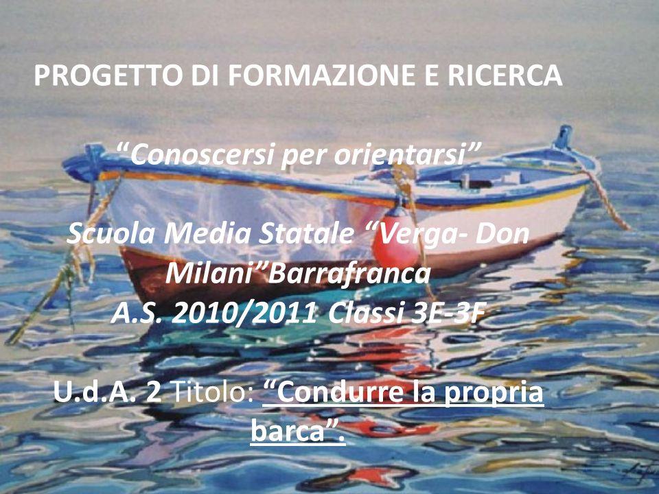 PROGETTO DI FORMAZIONE E RICERCA Conoscersi per orientarsi Scuola Media Statale Verga- Don Milani Barrafranca A.S.