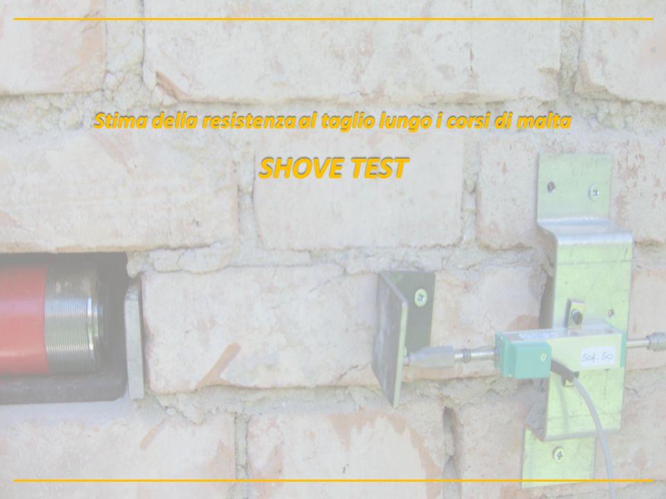 Stima della resistenza al taglio lungo i corsi di malta SHOVE TEST