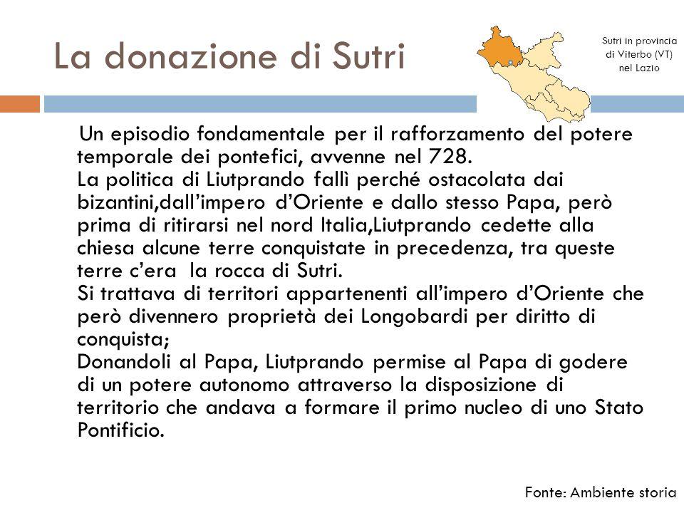 Sutri in provincia di Viterbo (VT) nel Lazio