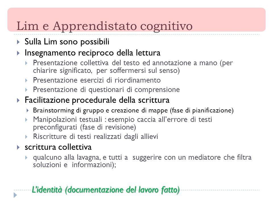 Lim e Apprendistato cognitivo