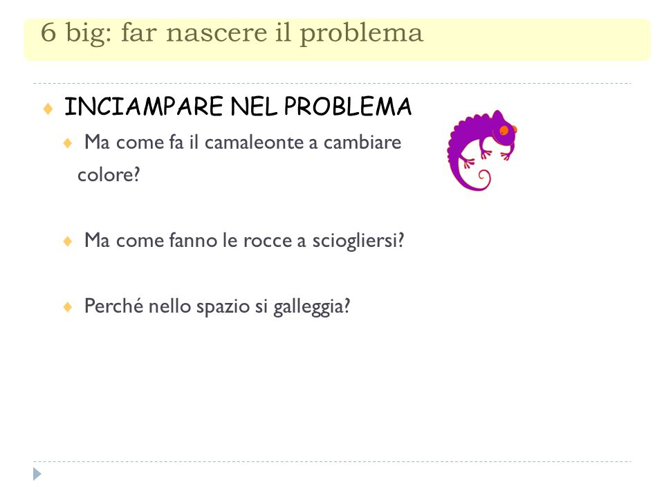 6 big: far nascere il problema