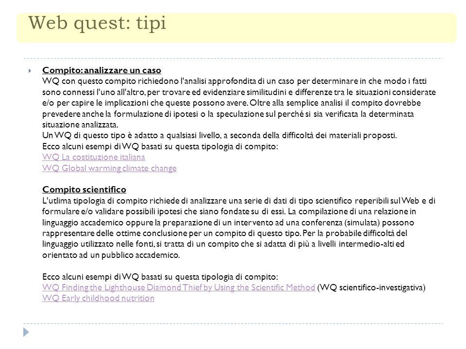 Web quest: tipi