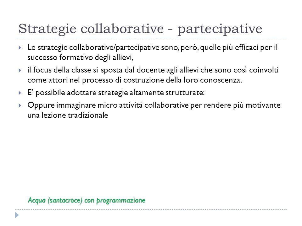 Strategie collaborative - partecipative