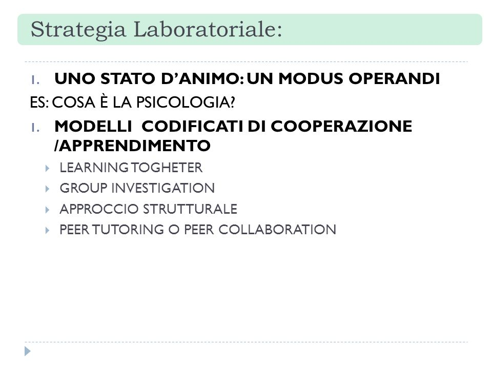 Strategia Laboratoriale: