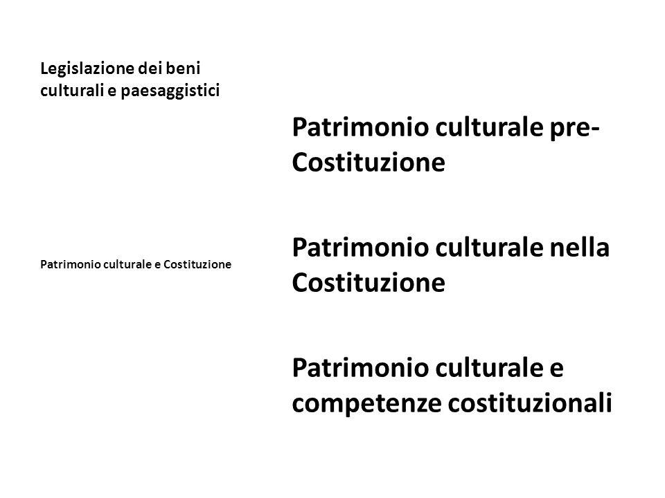 Legislazione dei beni culturali e paesaggistici