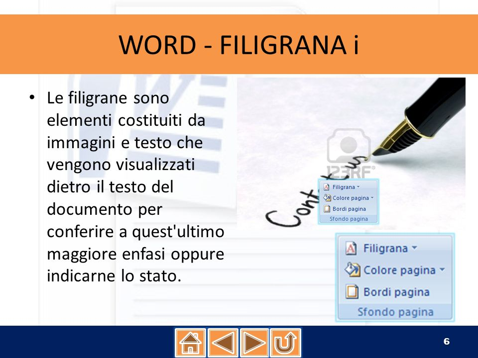 WORD - FILIGRANA i