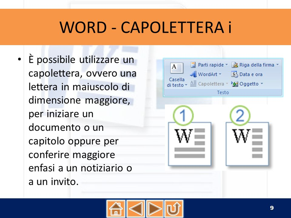 WORD - CAPOLETTERA i
