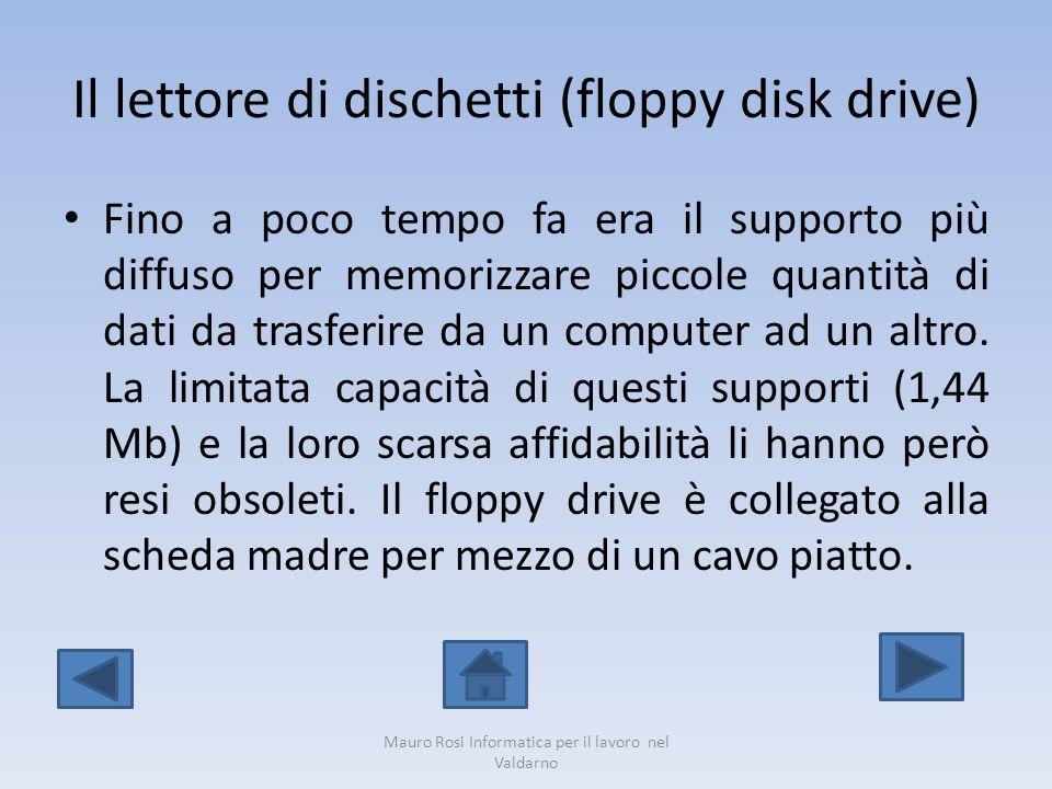 Il lettore di dischetti (floppy disk drive)