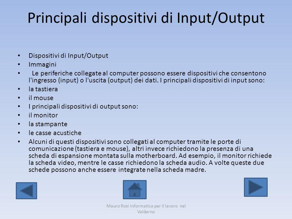 Principali dispositivi di Input/Output
