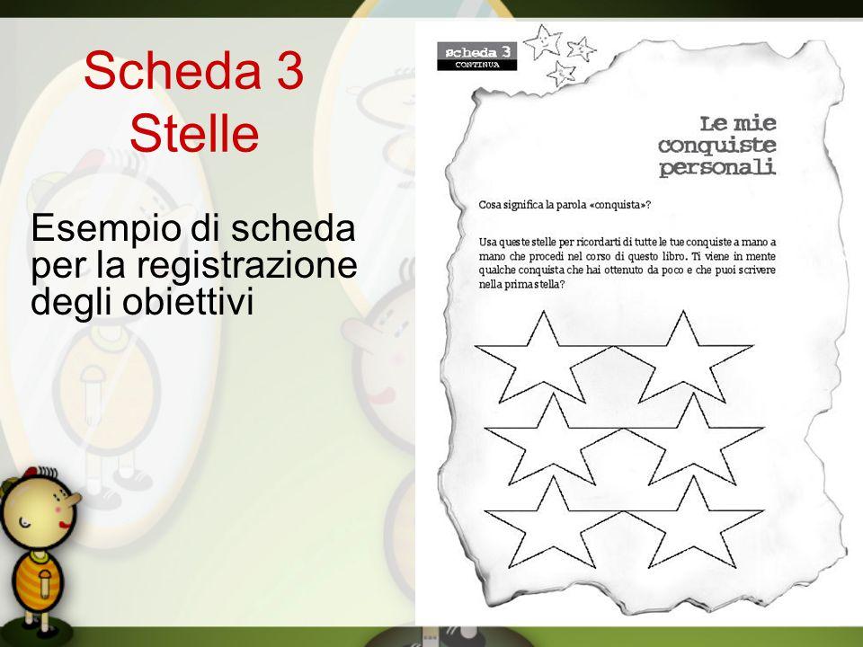 Scheda 3 Stelle Esempio di scheda per la registrazione degli obiettivi