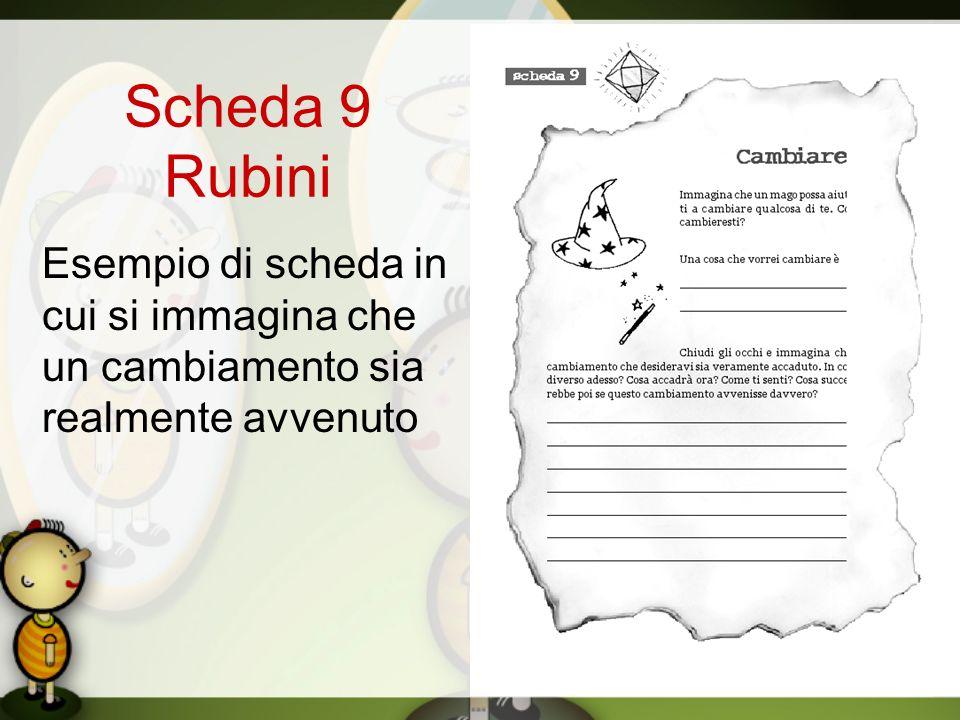 Scheda 9 Rubini Esempio di scheda in cui si immagina che un cambiamento sia realmente avvenuto