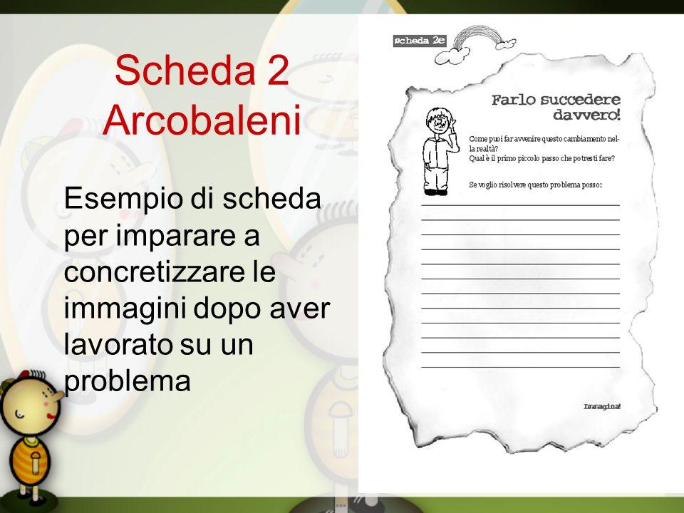 Scheda 2 Arcobaleni Esempio di scheda per imparare a concretizzare le immagini dopo aver lavorato su un problema.