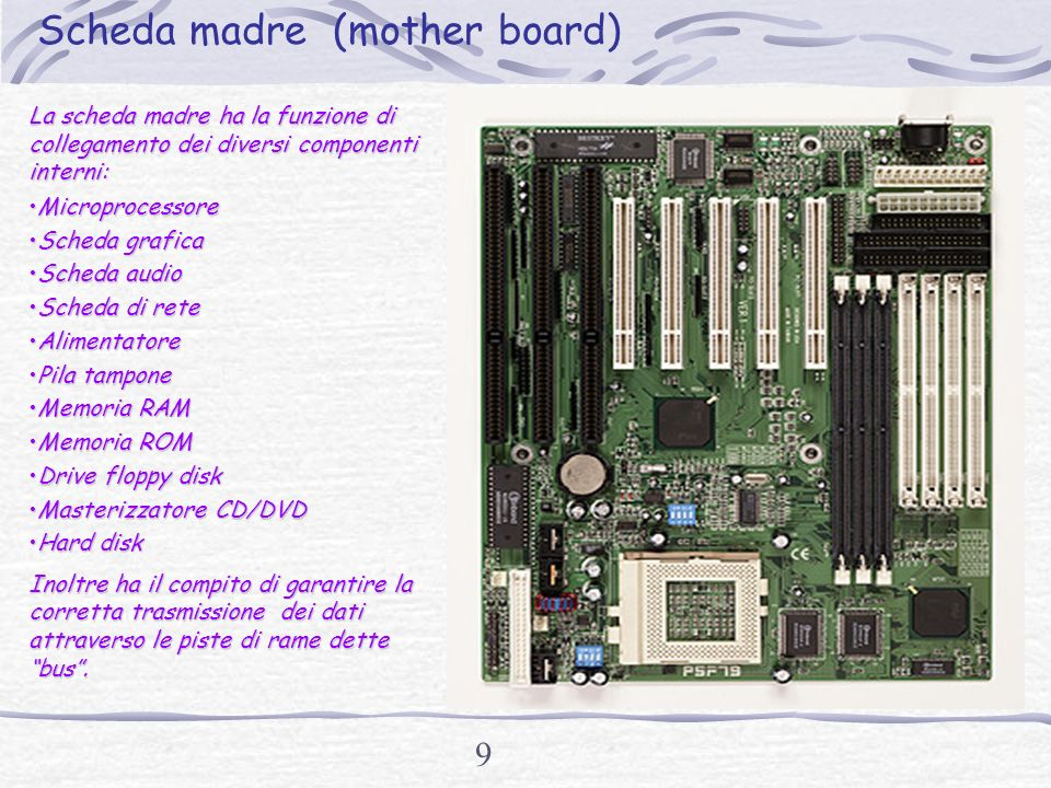 Scheda madre (mother board)