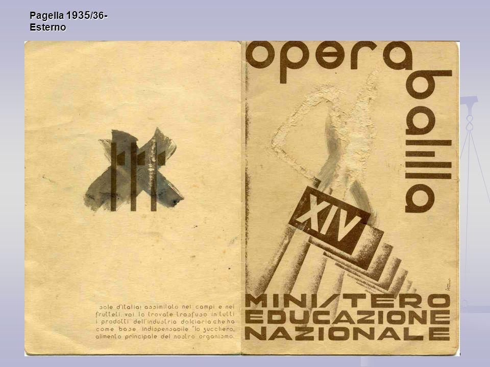 Pagella 1935/36- Esterno