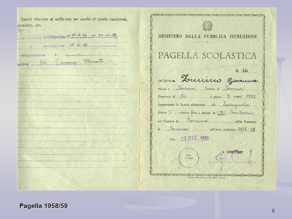 Pagella 1958/59