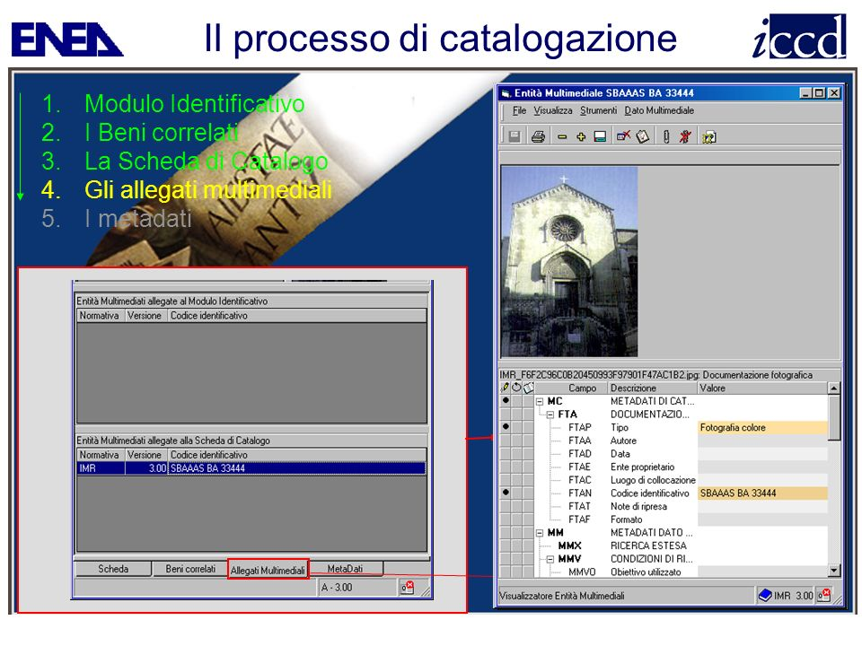 Il processo di catalogazione