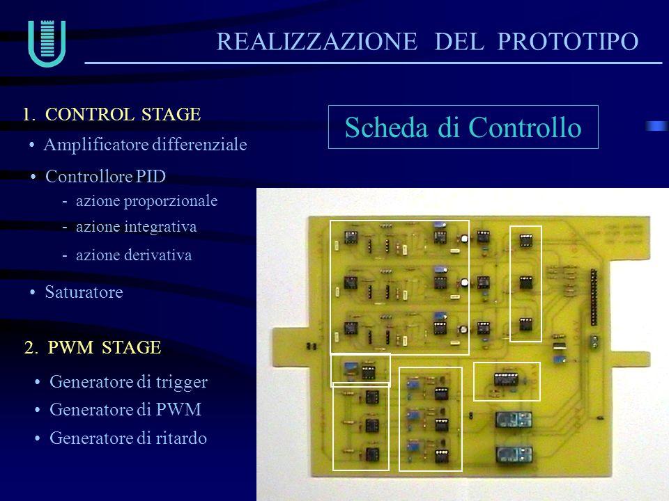 Scheda di Controllo REALIZZAZIONE DEL PROTOTIPO 1. CONTROL STAGE