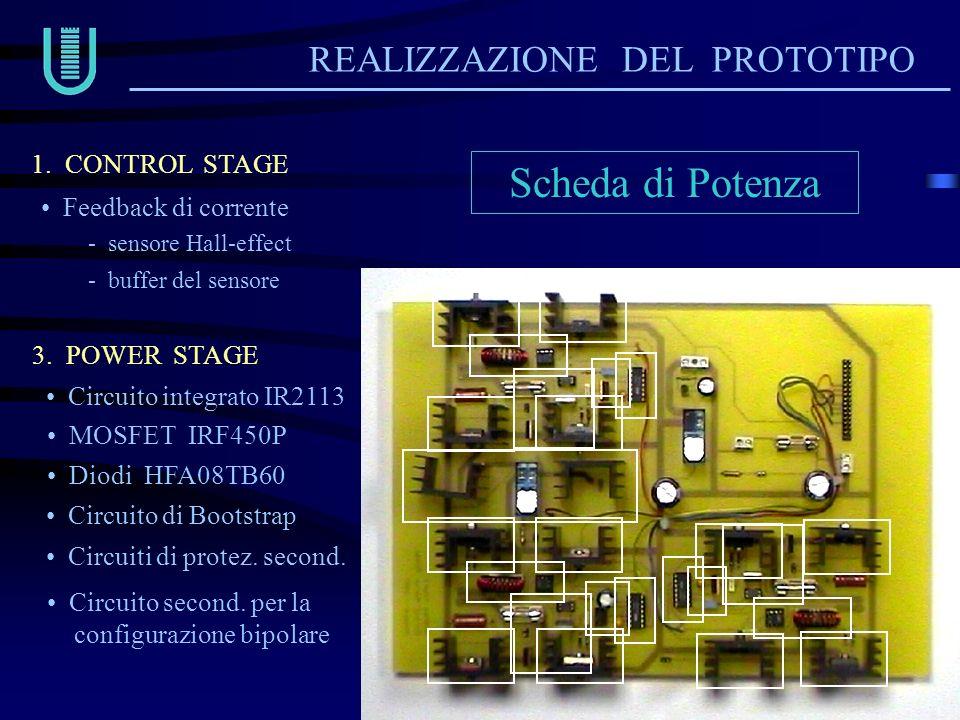 Scheda di Potenza REALIZZAZIONE DEL PROTOTIPO 1. CONTROL STAGE