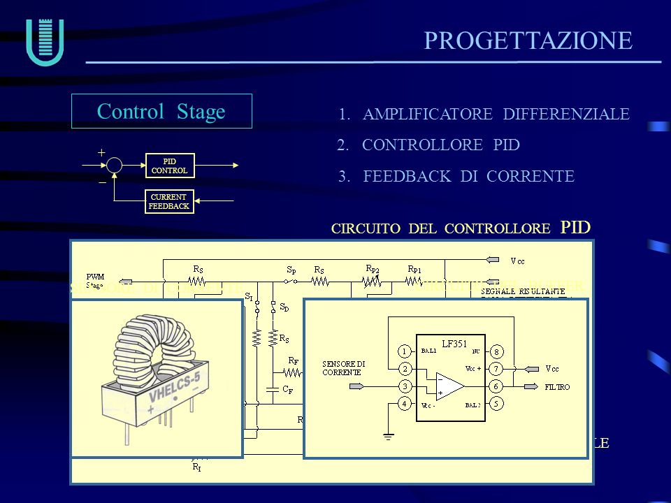 PROGETTAZIONE Control Stage 1. AMPLIFICATORE DIFFERENZIALE