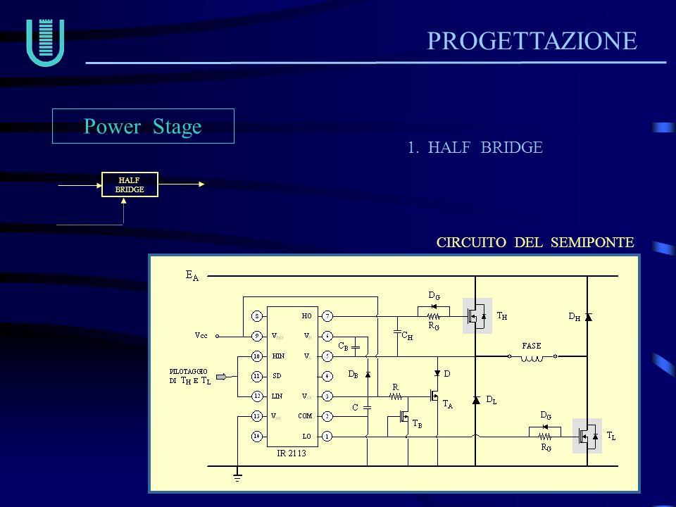 PROGETTAZIONE Power Stage 1. HALF BRIDGE CIRCUITO DEL SEMIPONTE HALF