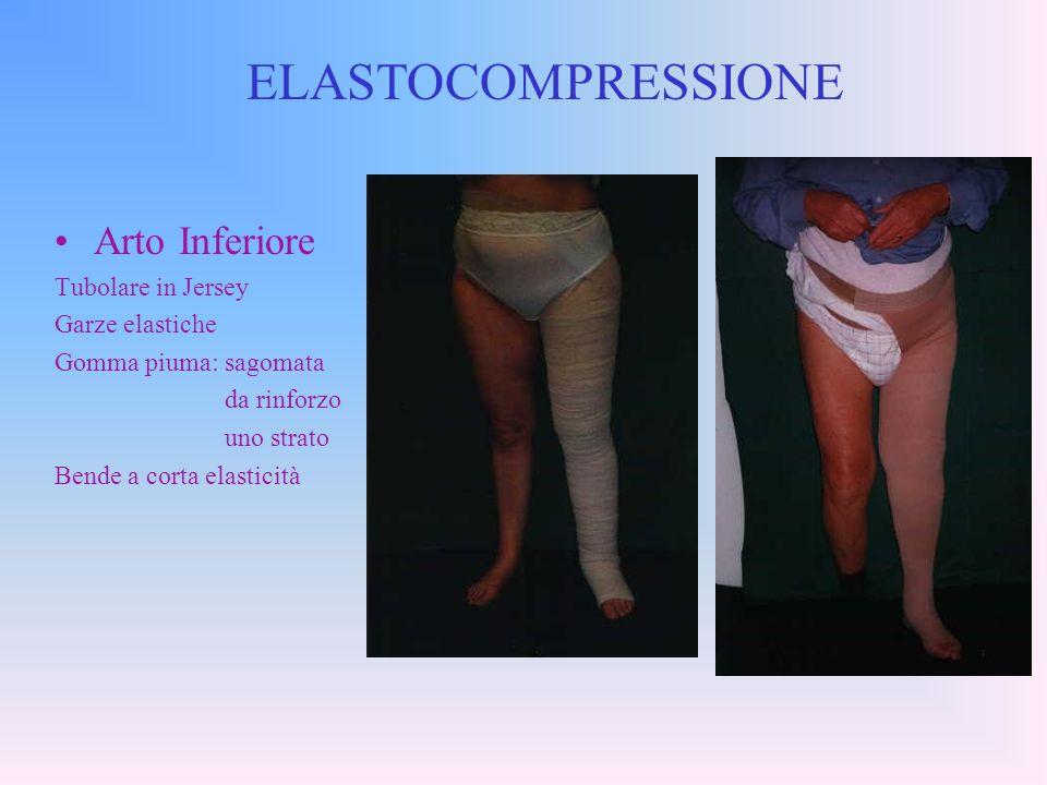 ELASTOCOMPRESSIONE Arto Inferiore Tubolare in Jersey Garze elastiche