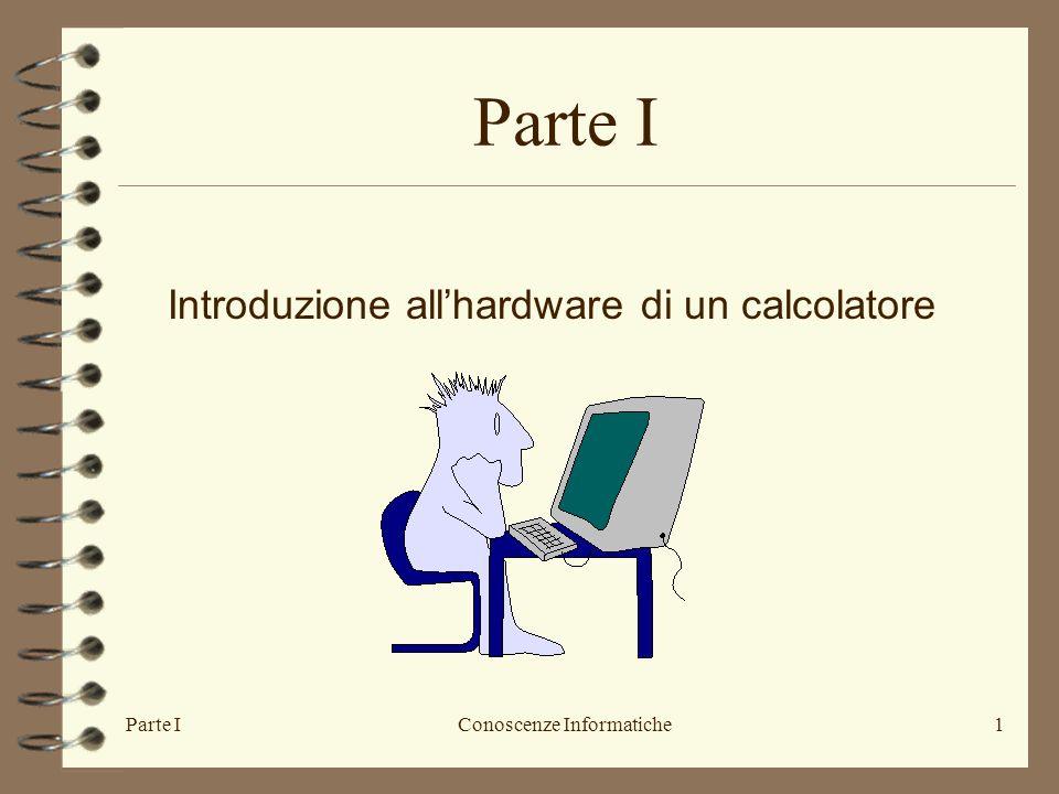 Parte I Introduzione all'hardware di un calcolatore Parte I