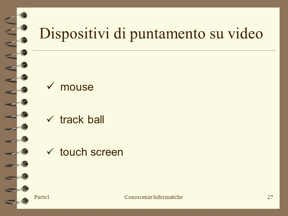 Dispositivi di puntamento su video