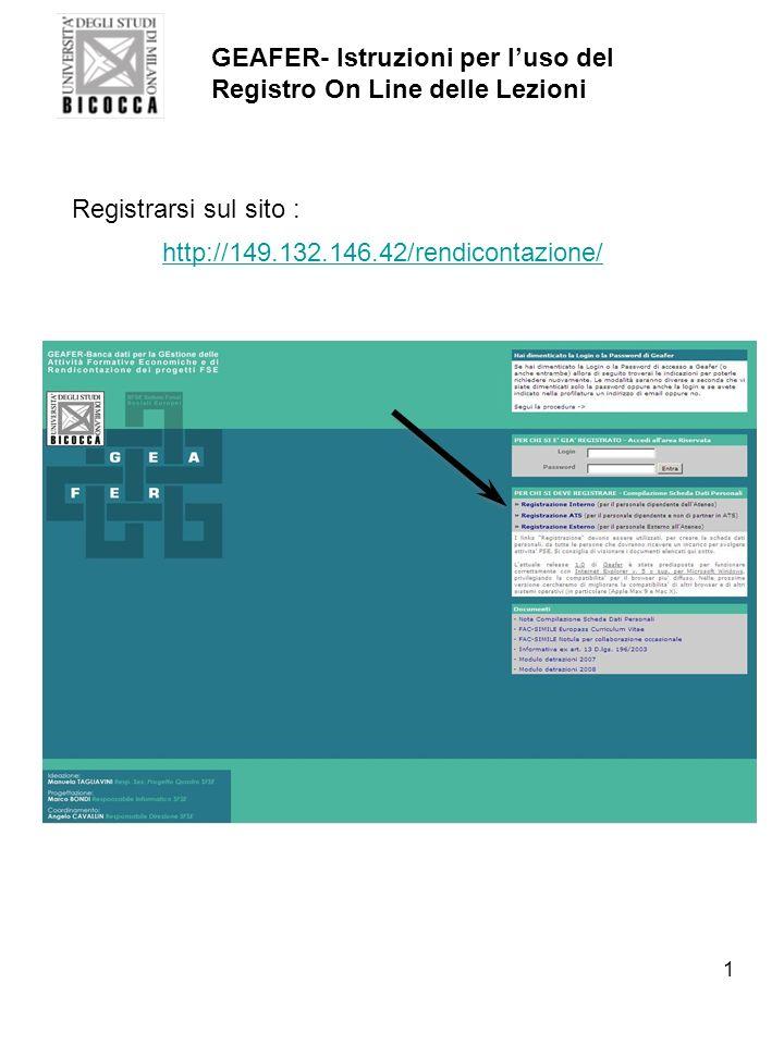 GEAFER- Istruzioni per l'uso del Registro On Line delle Lezioni