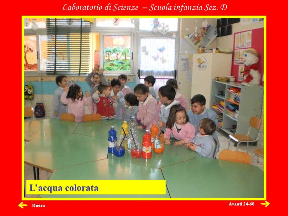 Laboratorio di Scienze – Scuola infanzia Sez. D