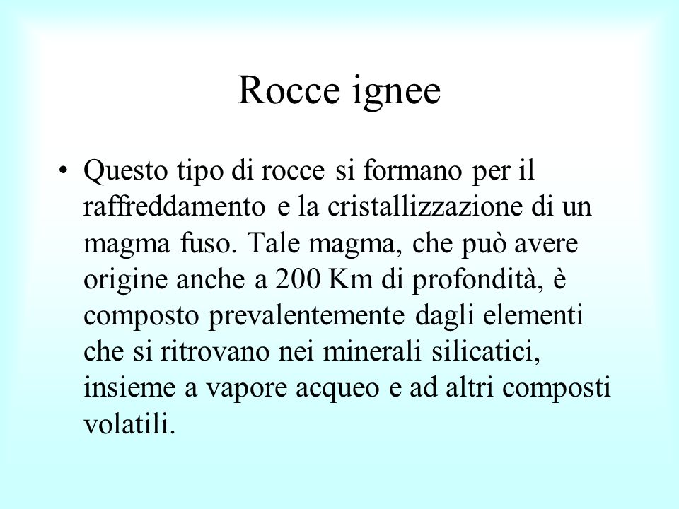 Rocce ignee
