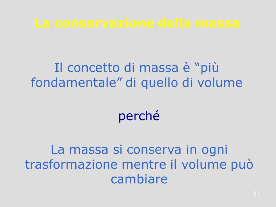 La conservazione della massa