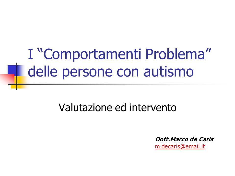 I Comportamenti Problema delle persone con autismo
