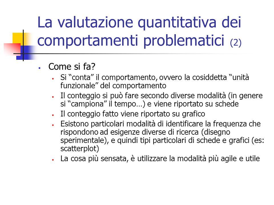 La valutazione quantitativa dei comportamenti problematici (2)