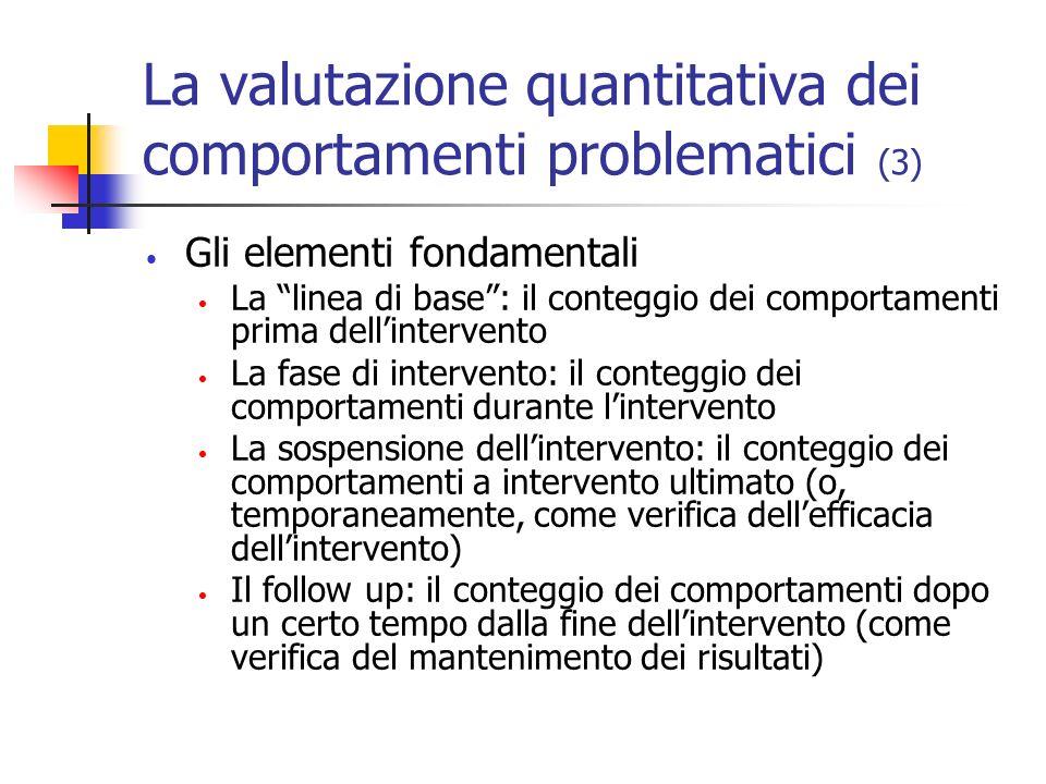 La valutazione quantitativa dei comportamenti problematici (3)
