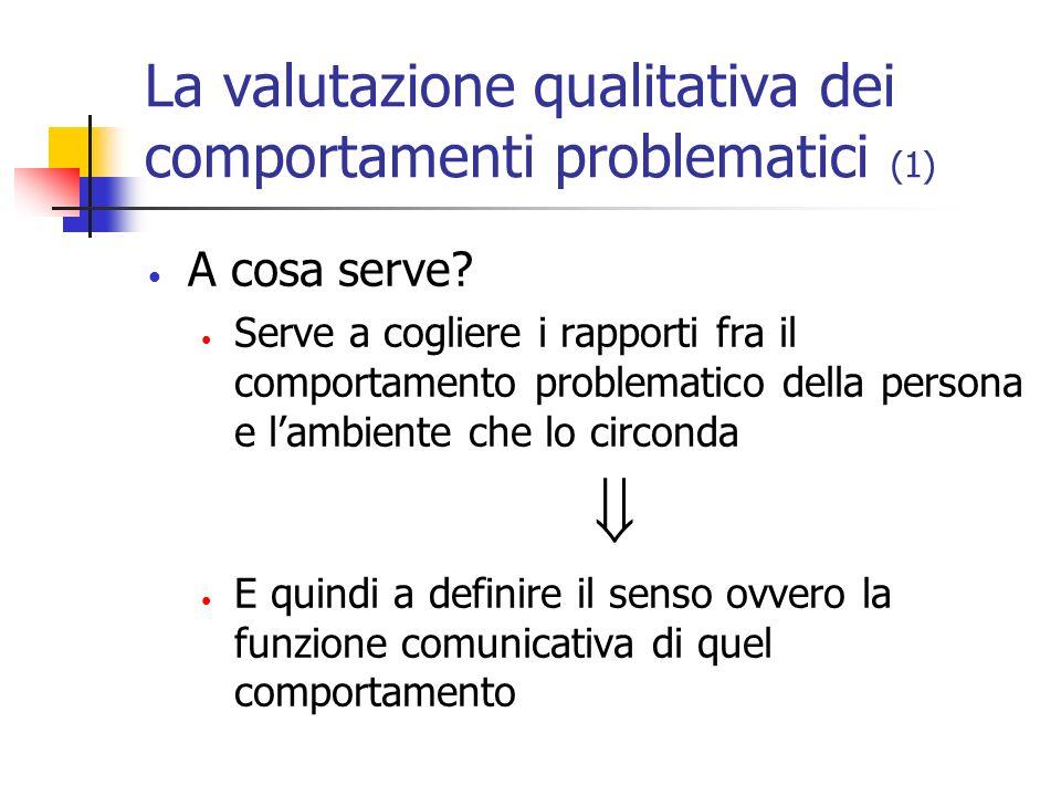 La valutazione qualitativa dei comportamenti problematici (1)