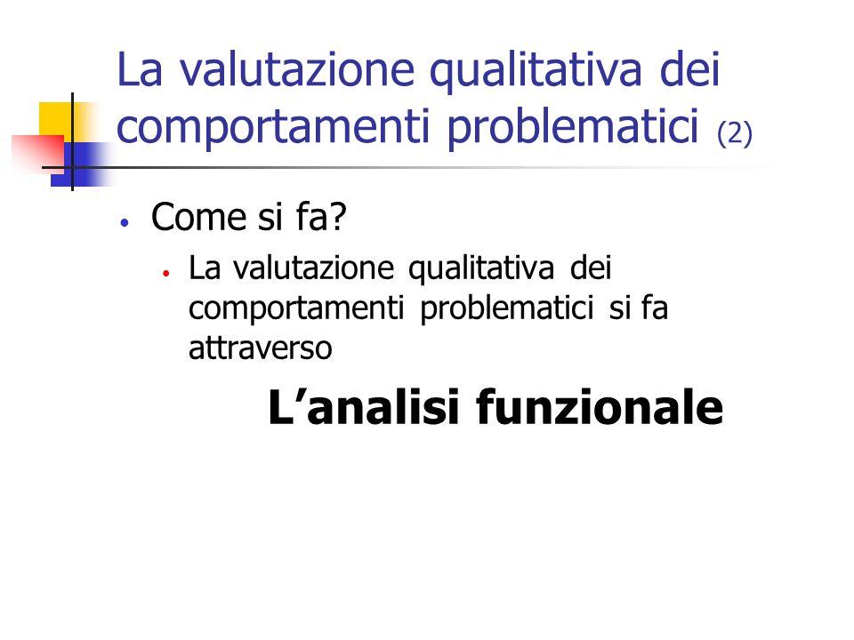 La valutazione qualitativa dei comportamenti problematici (2)