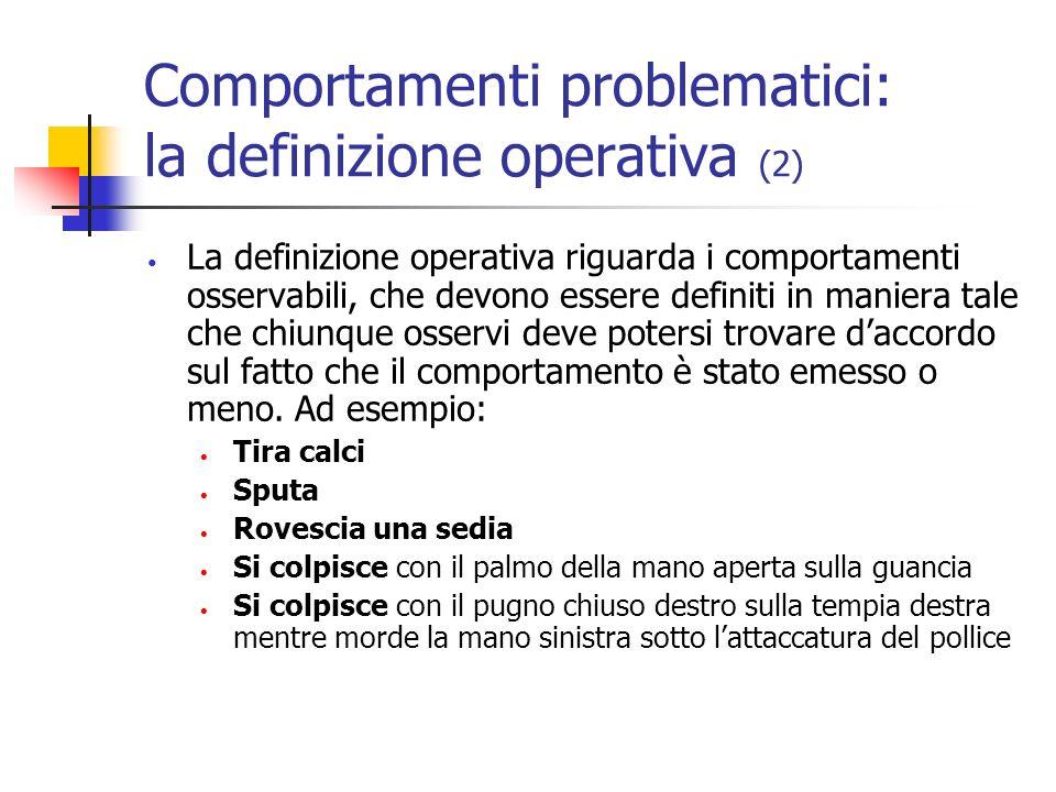 Comportamenti problematici: la definizione operativa (2)